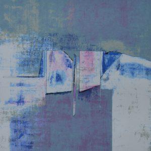"""Anders Österlin, """"Utan titel II"""", litografi, h/b 52x47 cm, 2 800 kr inkl ram"""