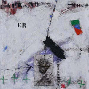 "James Coignard, ""Utan titel"", Blandteknik, h/b 92x72 cm, 36 000 kr"
