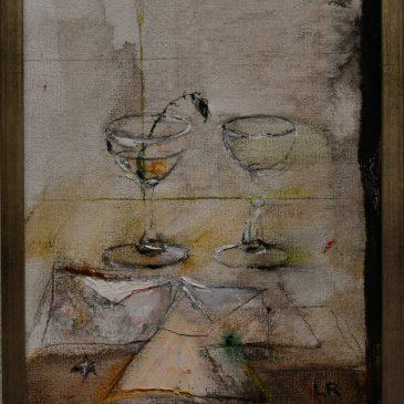 """Lillemor Rudolf Hall """"Stilleben – Brev med glas"""""""
