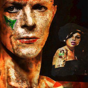 "Per Siwmark, ""David Bowie - Gold"", pigment prints, 33x48 cm 2 800 kr exkl ram 3 500 kr inkl ram"