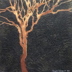 """Anna Törnquist, """"Trädsvit I"""", tempera, h/b 20x20 cm, 2 500 kr"""