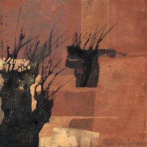 """Anna Törnquist, """"Trädsvit II"""", tempera, h/b 20x20 cm, 2 500 kr"""