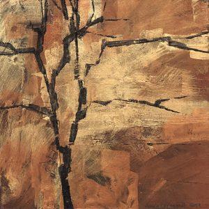 """Anna Törnquist, """"Trädsvit IV"""", tempera, h/b 20x20 cm, 2 500 kr"""