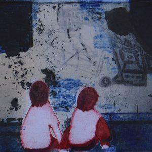 "Karin Petri Wennström, ""Funderingar"", blandteknik, h/b 20x30 cm, 2 200 kr exkl ram, 2 800 kr inkl ram"