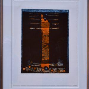 "Bertil Lundberg, ""Pelaren"", h/b 37x28 cm, 3 000 kr inkl ram"