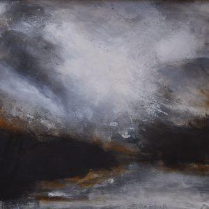 """Anders Adèrn, """"Afton"""", olja, h/b 50x60 cm, 5 500 kr"""