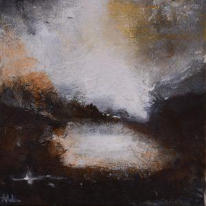 """Anders Adèrn, """"Mot kvällen"""", olja, h/b 30x30 cm, 2 500 kr"""