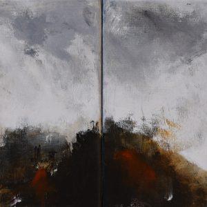 "Anders Adèrn, ""I ljuset"", diptyk, olja, h/b 35x54 cm, 4 000 kr"