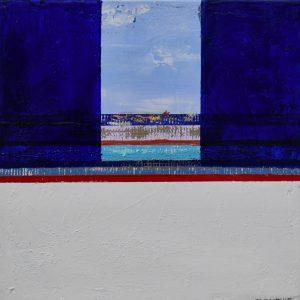 """Margit Hanquist, """"Sluten utsikt, akryl h/b 30x30 cm, 2 000 kr"""