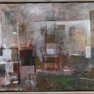"""Örjan Sätre, """"Interiör"""", olja, h/b 40x30 cm, 5 500 kr"""
