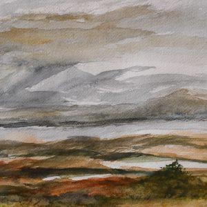 "Jón Leifsson, ""Isländskt landskap II"", akvarell, h/b 22x30 cm, 2 500 kr inkl ram"