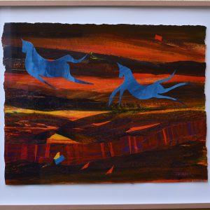 "Susanne Jardeback, ""Utan titel II"", blandteknik, h/b 52x67 cm, 4 500 kr inkl ram"