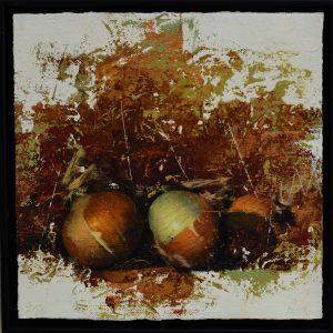 "Allan Madsen, ""Lökar"", giclée, h/b 28x28 cm, 2 400 kr inkl ram"