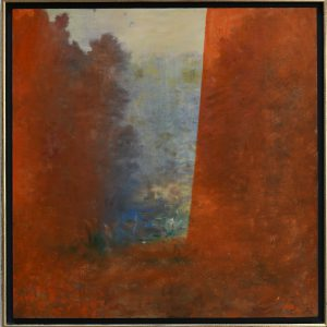 "Anna Nordenskiöld, ""Scen"", akryl, h/b 46x46 cm, 5 500 kr inkl ram"