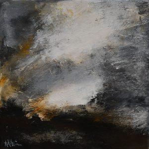 "Anders Adèrn, ""Sen afton"", olja, h/b 30x30 cm, 2 500 kr"