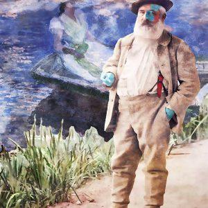 "Per Siwmark, ""Claude Monet"", pigment prints, h/b 48x33 cm, 2 800 kr exkl ram, 3 500 inkl ram med UV-glas"