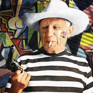 "Per Siwmark, ""Pablo Picasso"", pigment prints, h/b 48x33 cm, 2 800 kr exkl ram, 3 500 kr inkl ram med UV-glas"