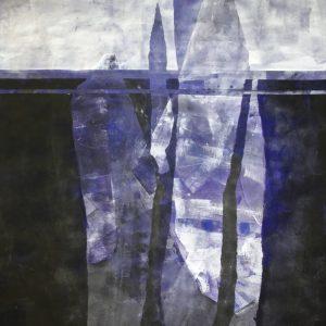 """Ylva Molitor-Gärdsell, """"The Flippening"""", gouache, h/b 116x104 cm, 14 000 kr"""